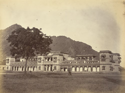 Johdpore [sic] Boarding House [Mayo College, Ajmer], built under supervision of Col. J.M. Williams.